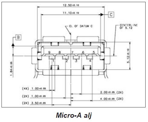 USB micro-A alj