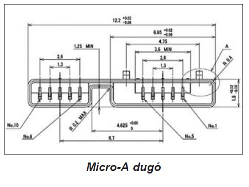 USB micro-A dugó