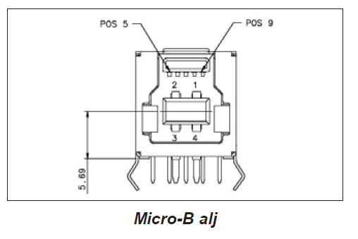 USB micro-B alj