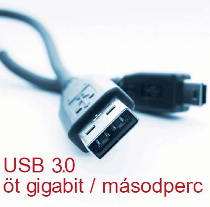 USB 3.0 öt gigabit / másodperc
